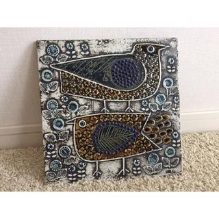 リサラーソン(Lisa Larson)のマーガレット様専用* リサラーソン 陶板 UNIK  FAGLAR(二羽の鳥)(その他)