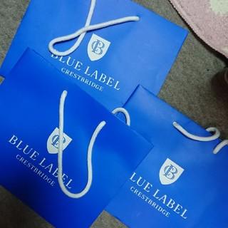 バーバリーブルーレーベル(BURBERRY BLUE LABEL)のバーバリーブルーレーベル ショップ紙袋3枚(ショップ袋)