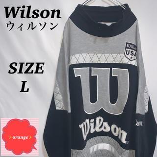 ウィルソン(wilson)の【90s】【希少】ウィルソン USA スウェット モックネック トレーナー(スウェット)
