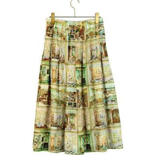 フランシュリッペ(franche lippee)のリッペデパートメントスカート(カラフル)新品タグ付き(ひざ丈スカート)