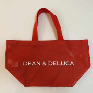 ディーンアンドデルーカ(DEAN & DELUCA)のDEAN&DELUCA  トートバッグS メッシュ赤(エコバッグ)