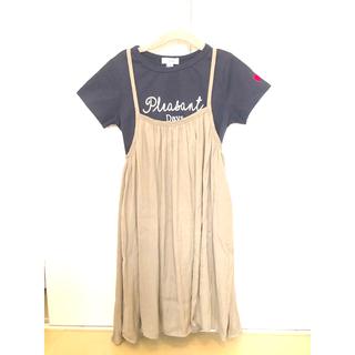 アーヴェヴェ(a.v.v)のa.v.v キッズ Tシャツ&ジャンバースカート セット売り 120センチ(ワンピース)