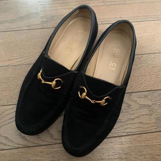 グッチ(Gucci)のGUCCI ビットローファー ブラック 23センチ(ローファー/革靴)