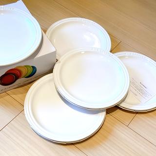 ルクルーゼ(LE CREUSET)の新品未使用 ル・クルーゼ ホワイトプレート LC 5枚セット 23cm(食器)