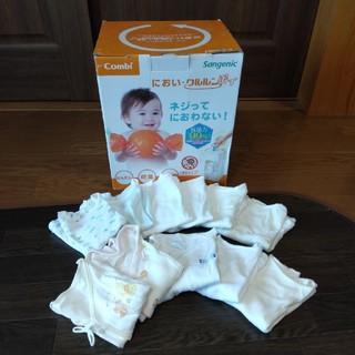 コンビ(combi)の新品 コンビ combi クルルンポイ 紙おむつ処理器 肌着 60 新生児  (紙おむつ用ゴミ箱)