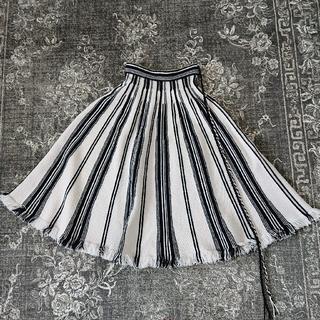 クリスチャンディオール(Christian Dior)の2019 DIOR  ディオール ニットフレアスカート 極美品 38(ロングスカート)