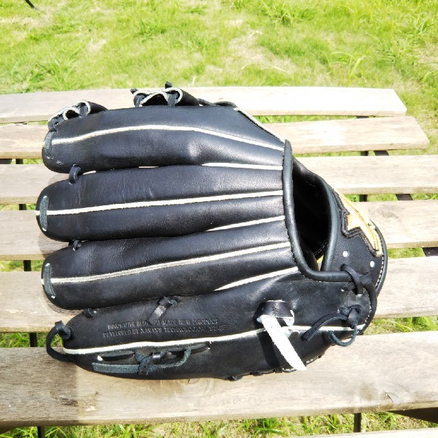 Xanax(ザナックス)のくま様 ザナックス 大人用 日本製グローブ  ブラック  スポーツ/アウトドアの野球(グローブ)の商品写真