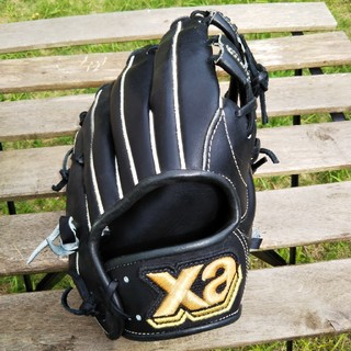 ザナックス(Xanax)のくま様 ザナックス 大人用 日本製グローブ  ブラック (グローブ)