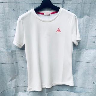 ルコックスポルティフ(le coq sportif)の新品 タグ付き未使用品 ルコック レディースMサイズ 白 半袖Tシャツ(Tシャツ(半袖/袖なし))