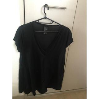 ダブルスタンダードクロージング(DOUBLE STANDARD CLOTHING)のダブルスタンダード・黒VネックTシャツ(Tシャツ(半袖/袖なし))