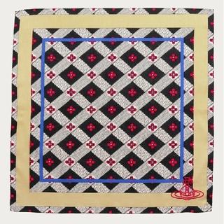 ヴィヴィアンウエストウッド(Vivienne Westwood)の新品🌟送料無料🌺チェッカーボード🌺ハンカチBK★ヴィヴィアンウエストウッド(ハンカチ)