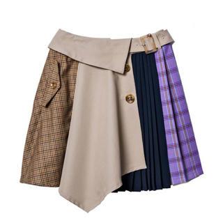 レディアゼル(REDYAZEL)のREDYAZEL 4素材MIX変形ミニスカート(ミニスカート)