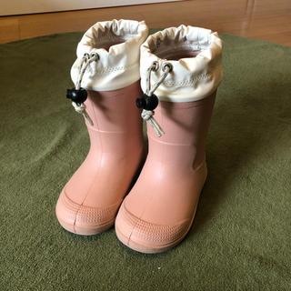ムジルシリョウヒン(MUJI (無印良品))の無印良品 15-16センチ ピンク 長靴 レインブーツ スノーブーツ(長靴/レインシューズ)