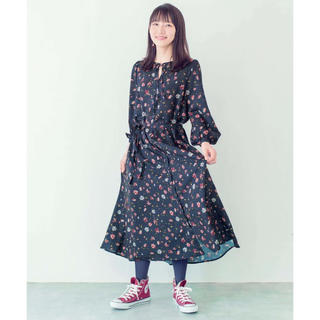 ハコ(haco!)の花柄ワンピース 吉岡里帆さんコラボ(ロングワンピース/マキシワンピース)