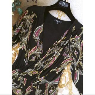 エトロ(ETRO)の極美品 ETRO エトロ 洗練 リラックス ドレス ワンピース 42(ひざ丈ワンピース)