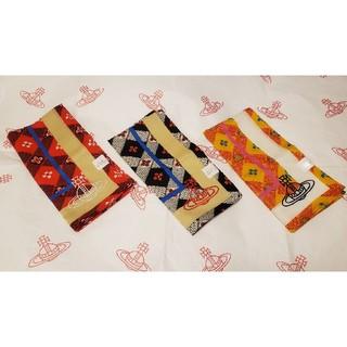 ヴィヴィアンウエストウッド(Vivienne Westwood)の3枚セット🌺チェッカーボード🌺ハンカチ◼️ヴィヴィアンウエストウッド送料無料(ハンカチ)