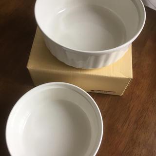 ニッコー(NIKKO)の【未使用】業務用 NIKKO スフレ型  白ココット(大・小)2個セット(食器)