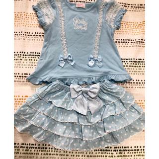 シャーリーテンプル(Shirley Temple)の90 水色セットアップ(Tシャツ/カットソー)