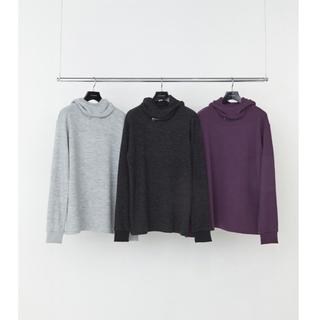 ジョンローレンスサリバン(JOHN LAWRENCE SULLIVAN)のLITTLEBIG  リトルビッグ 3Way Wool CS  PURPLE M(Tシャツ/カットソー(七分/長袖))