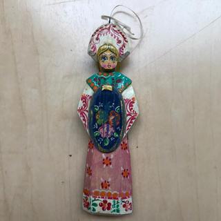 ミナペルホネン(mina perhonen)のロシア 飾り 木製 東欧 インテリア 刺繍 ハンドメイド 民族衣装 民芸 北欧(置物)