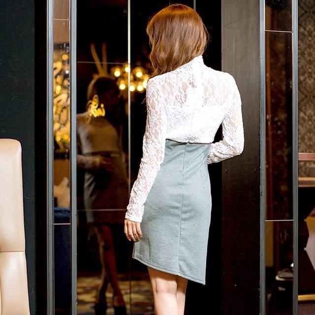 dazzy store(デイジーストア)のdazzy ☆ レースシースルー長袖タイトミニドレス レディースのフォーマル/ドレス(ミニドレス)の商品写真