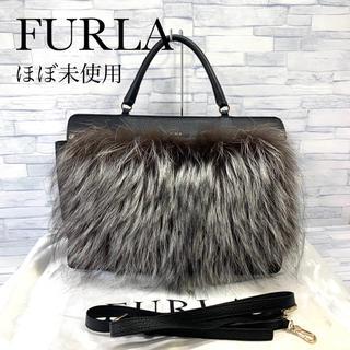 フルラ(Furla)の超美品 フルラ  FURLA ファー ハンドバッグ  2way(ハンドバッグ)