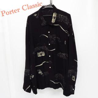 Porter Classic  ALOHA LONG SHIRT BLACK(シャツ)