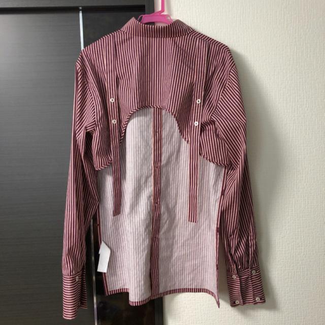 DELADA/デラダ/長袖シャツ/Mサイズ/DOUBLE SHIRT/ストライプ メンズのトップス(シャツ)の商品写真
