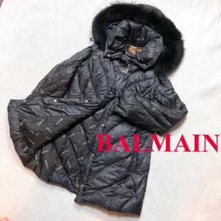 バルマン(BALMAIN)のBALMAIN バルマン ダウンジャケット M 高級 ブルーフォックス セレブ(ダウンジャケット)