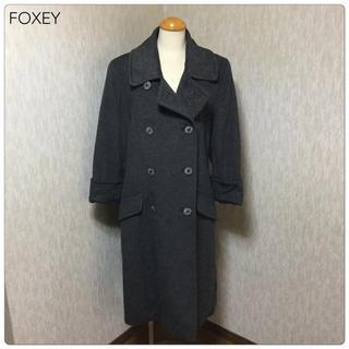 フォクシー(FOXEY)の【美品】FOXEY  カシミヤ・チンチラ混 トレンチコート  フリー(トレンチコート)