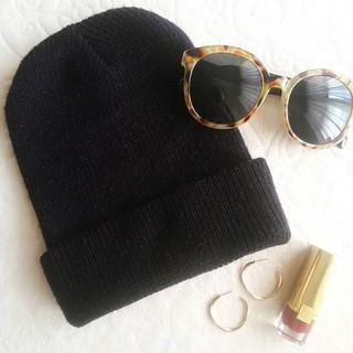 ザラ(ZARA)のシンプルニット帽(ニット帽/ビーニー)