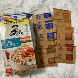 クエーカー オートミール フルーツ & クリーム 9袋(米/穀物)