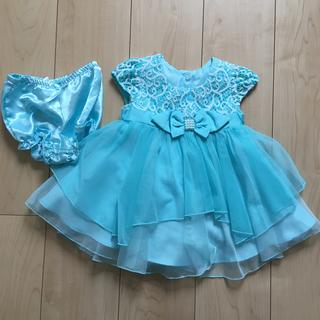 コストコ(コストコ)のシンデレラ ドレス パンツ付き 12M 70-80サイズ(ワンピース)