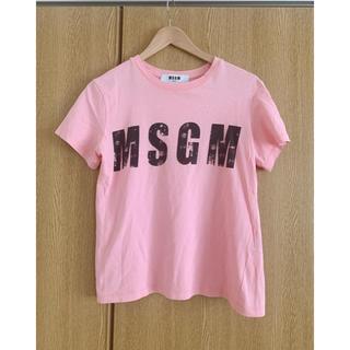 エムエスジイエム(MSGM)のMSGM 半袖ロゴTシャツ Sサイズ(Tシャツ(半袖/袖なし))