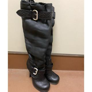 ジュゼッペザノッティデザイン(Giuseppe Zanotti Design)のジュゼッペ ザノッティ ブーツ ムートン  ファー 35 ロングブーツ(ブーツ)