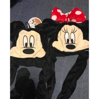 スリーコインズ(3COINS)のスリーコインズ ミッキー&ミニー パタパタ帽子2個set(ニット帽/ビーニー)