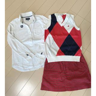 パーリーゲイツ(PEARLY GATES)のパーリーゲイツ レディース 3点セット ポロシャツ スカート ベスト 0(ミニスカート)