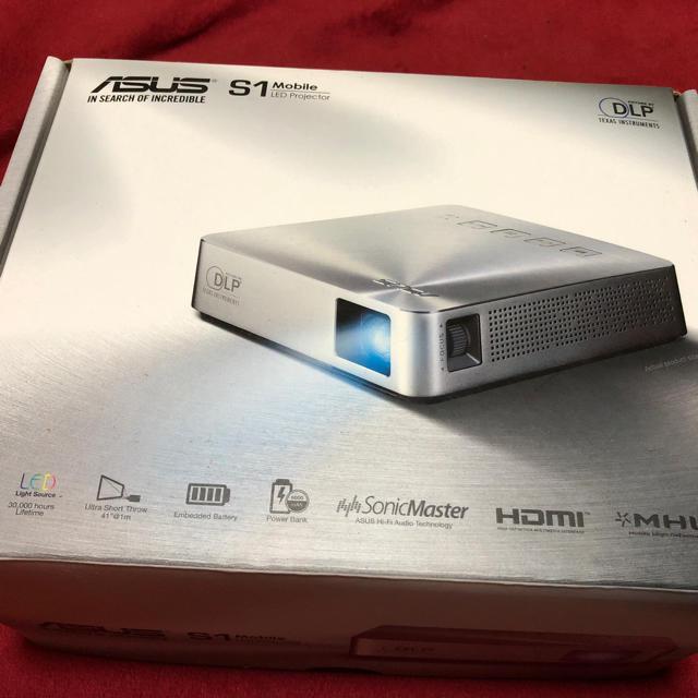 ASUS(エイスース)のASUS S1 モバイルLEDプロジェクター スマホ/家電/カメラのテレビ/映像機器(プロジェクター)の商品写真