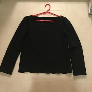 フランシュリッペ(franche lippee)のフランシュリッペ黒のトップス(Tシャツ(長袖/七分))
