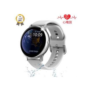 美品 スマートウォッチ レディース メンズ 歩数計 活動量計 防水 血圧計(腕時計(デジタル))