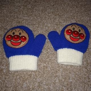 アンパンマン(アンパンマン)の美品 アンパンマン 笛付き 手袋 ミトン ブルー(手袋)