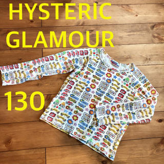 ヒステリックグラマー(HYSTERIC GLAMOUR)のヒステリック グラマー 130 ロンT 女の子 長袖 総柄(Tシャツ/カットソー)