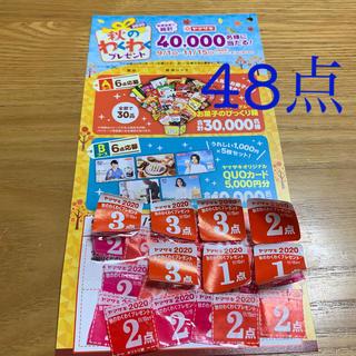 ヤマザキセイパン(山崎製パン)のヤマザキ2020秋のワクワクプレゼント応募券48点分(その他)