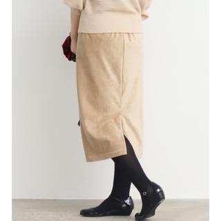 ドットアンドストライプスチャイルドウーマン(Dot&Stripes CHILDWOMAN)の2018AW Dot&stripes ニットコール ウエストゴムタイトスカート(ひざ丈スカート)