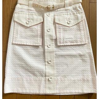 マークバイマークジェイコブス(MARC BY MARC JACOBS)の値下げMARC BY MARC JACOBS ベルト付台形スカート(ひざ丈スカート)