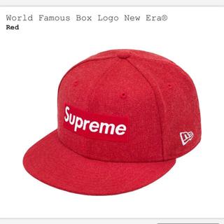 シュプリーム(Supreme)のSupreme World Famous BoxLogo New Era Red(キャップ)