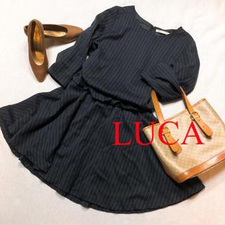 ルカ(LUCA)のLUCA ルカ ワンピース ストライプ 日本製(ひざ丈ワンピース)