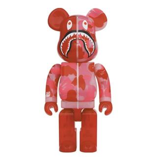 pink BE@RBRICK CLEAR ABC CAMO SHARK 400%(その他)
