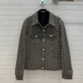 ルイヴィトン(LOUIS VUITTON)の綺麗Vintageロゴボタン メッシュデニムジャケット   デニムシャツ(Gジャン/デニムジャケット)