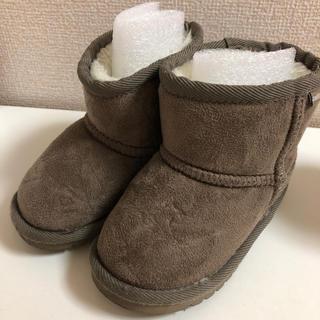 プティマイン(petit main)のpetitmain  ムートンブーツ キッズ 14センチ(ブーツ)